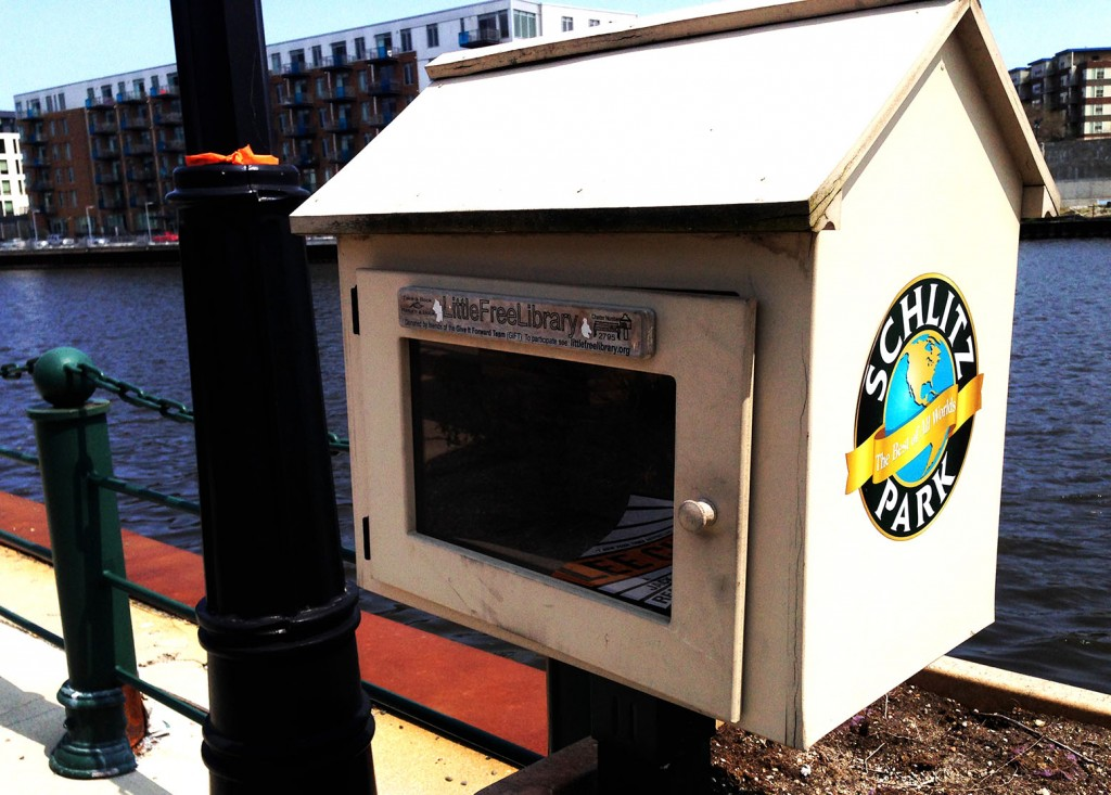 The Little Library In Schlitz Park - Newstalgia at it's best