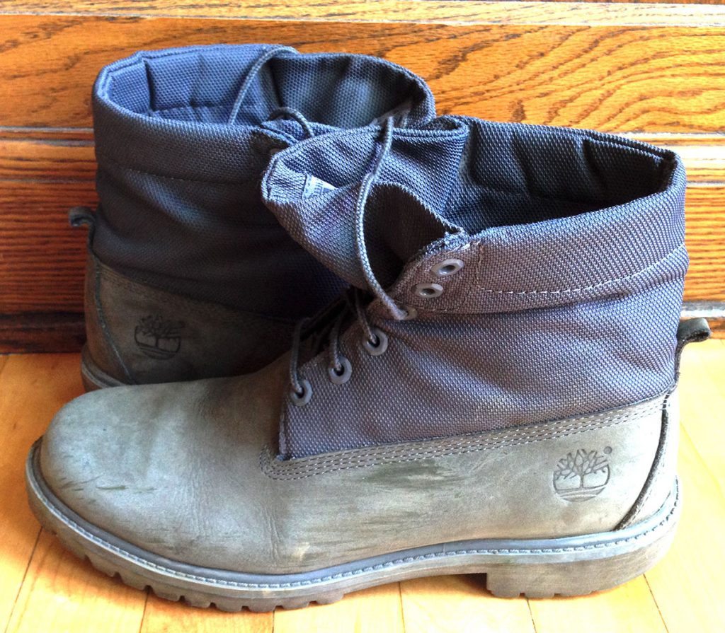 My Timberland rolltop boots - dry, durable, dependable, and urban chic