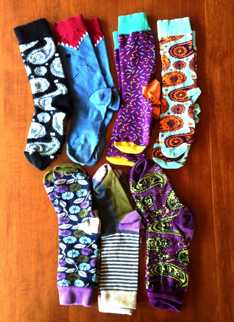 The pride of my travel clothing collection - my socks!
