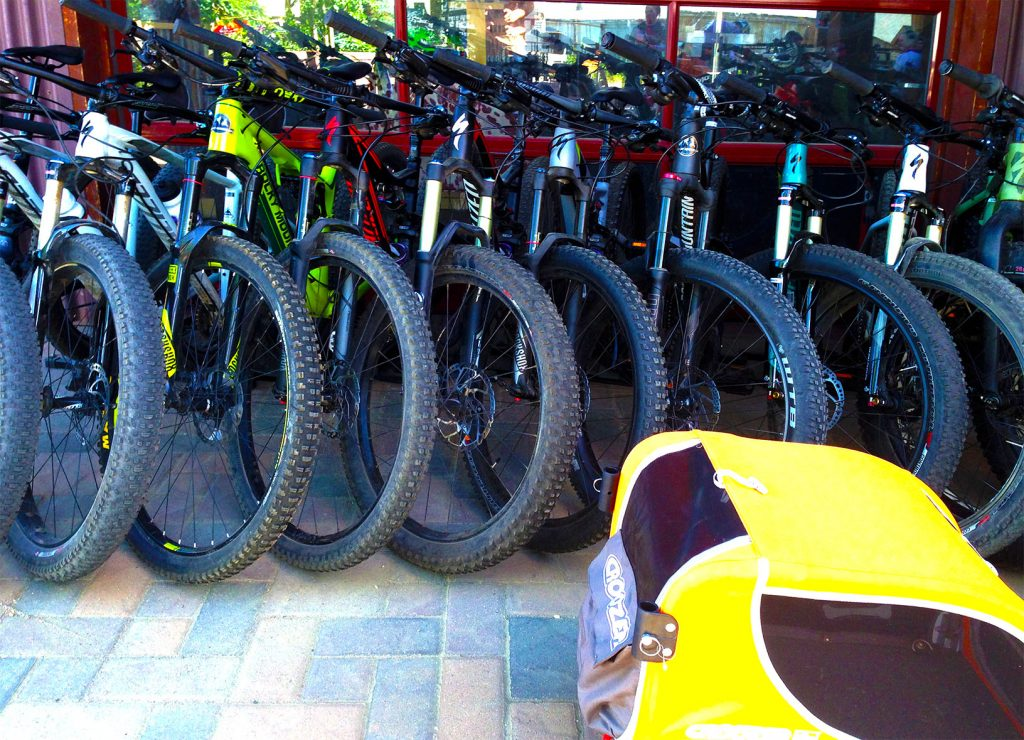 mountain bikes at the Tin Shed in Nederland