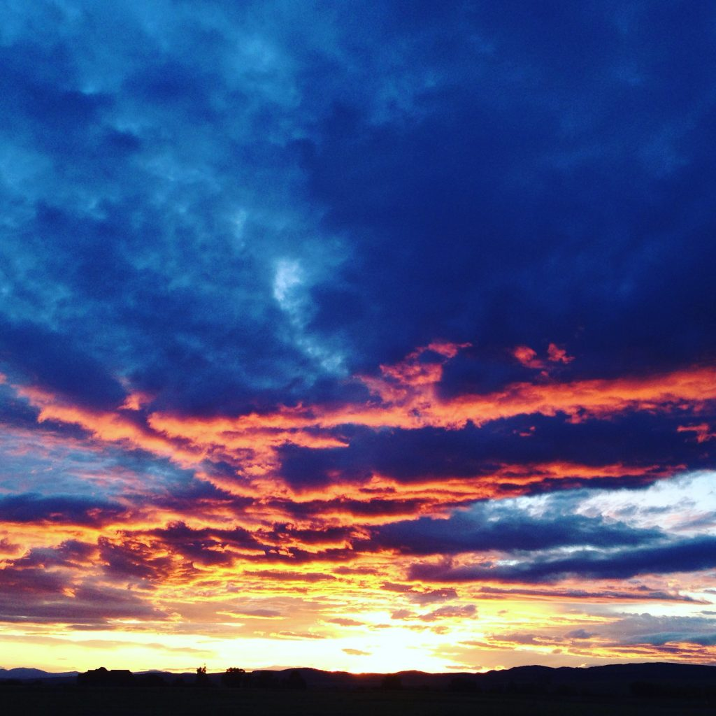 Like a sunset on Montana mountains. Paintings in the sky.