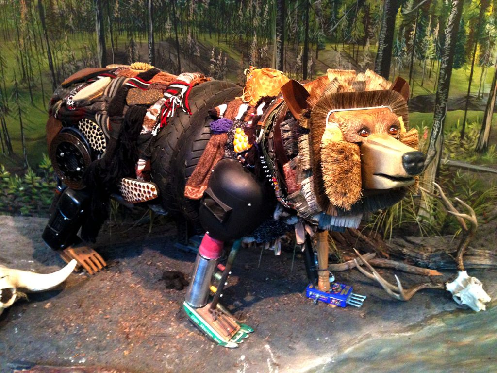 Though sometimes I might be a tad unbearable (I found this recyclebear at the Museum of the Rockies)