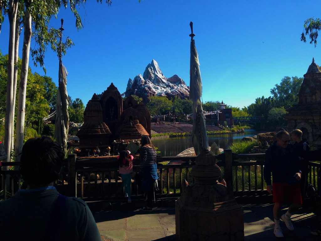 Expedition Everest at the Animal Kingdom. The queue includes Tibetan Temples and a Yeti museum. One of my favorite queues in the industry.