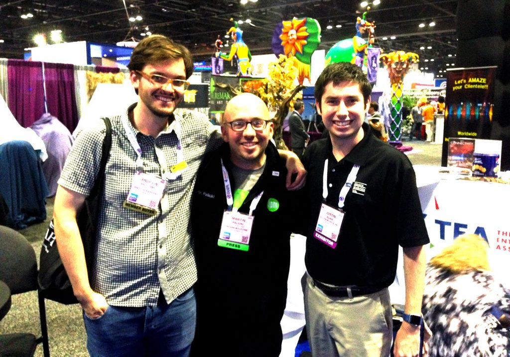 The Milwaukee division of the TEA - Me on the left, Martin from InPark, and Justin from Alcon McBride