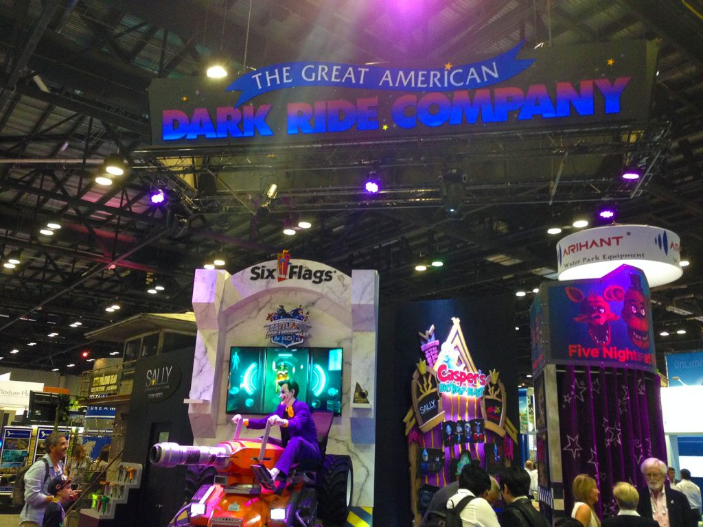 Sally's Trade Show Booth on the IAAPA Expo Floor