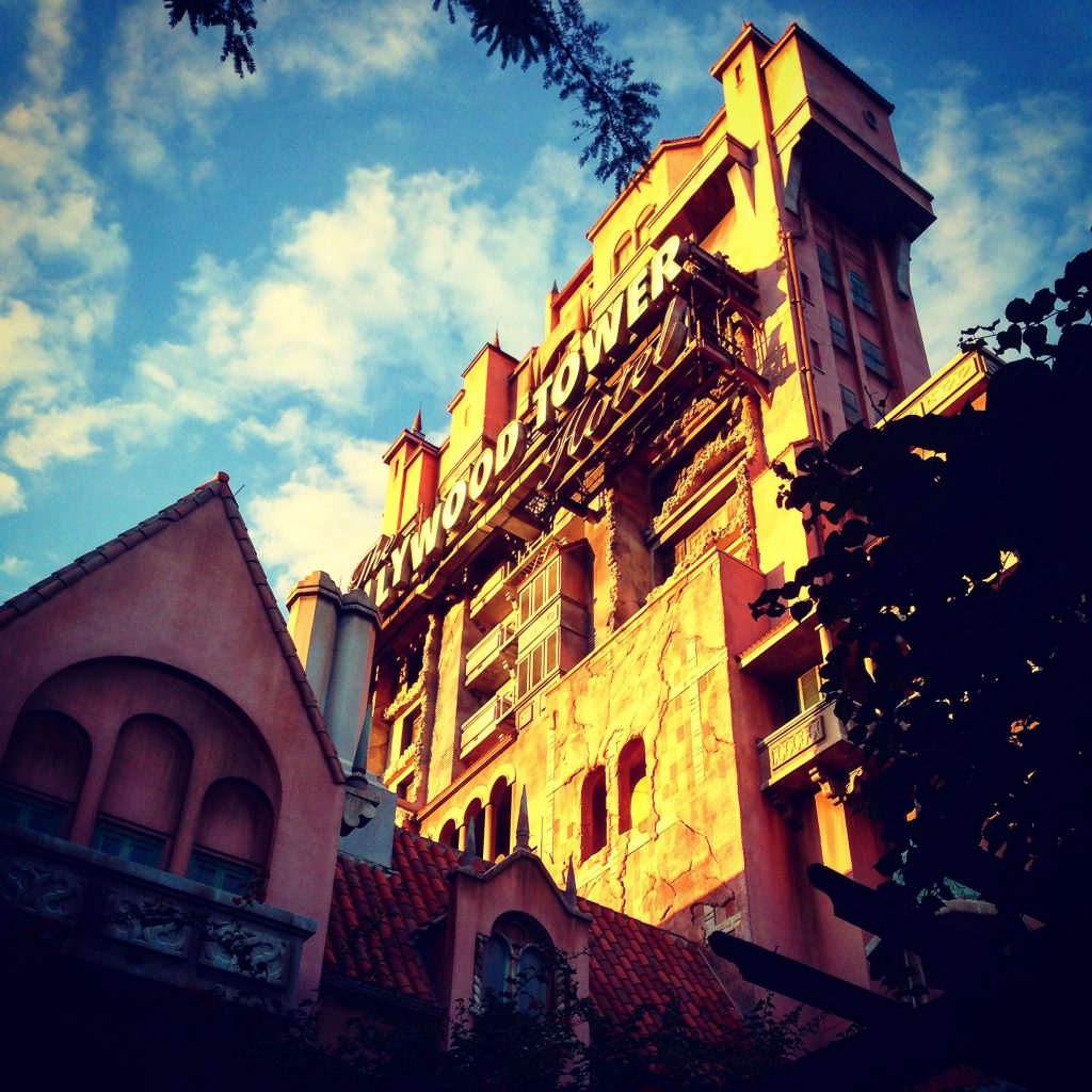 The vacation may be gone. But the memories linger. Sunset on Hollywood Studios Tower of Terror