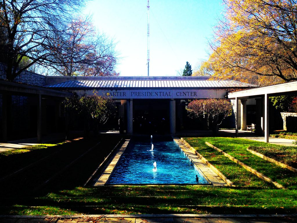 The Carter Presidential Center - in all its Georgian glory