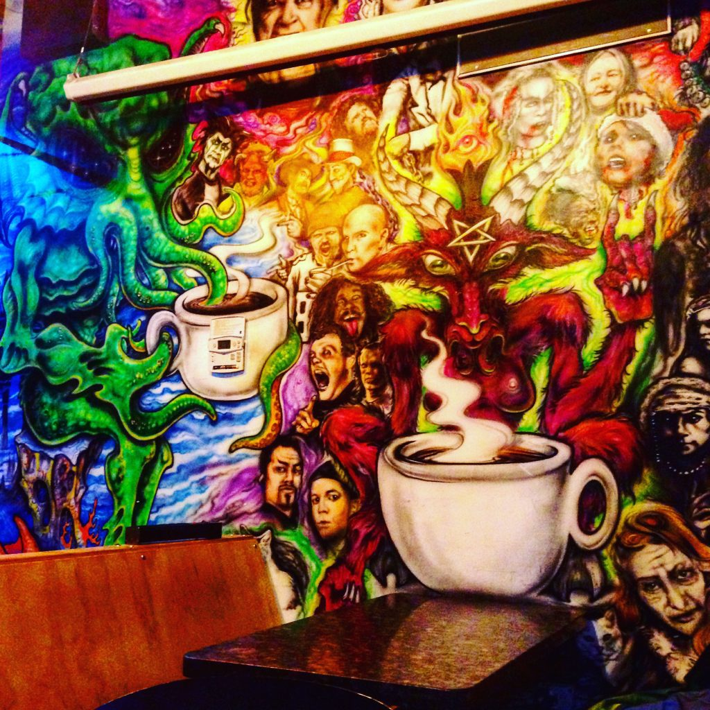 Coffee. Psychedelic walls. A taste of Portland here at Java Lords. l5p